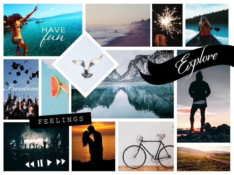 Online Vision Board for Goal Planning