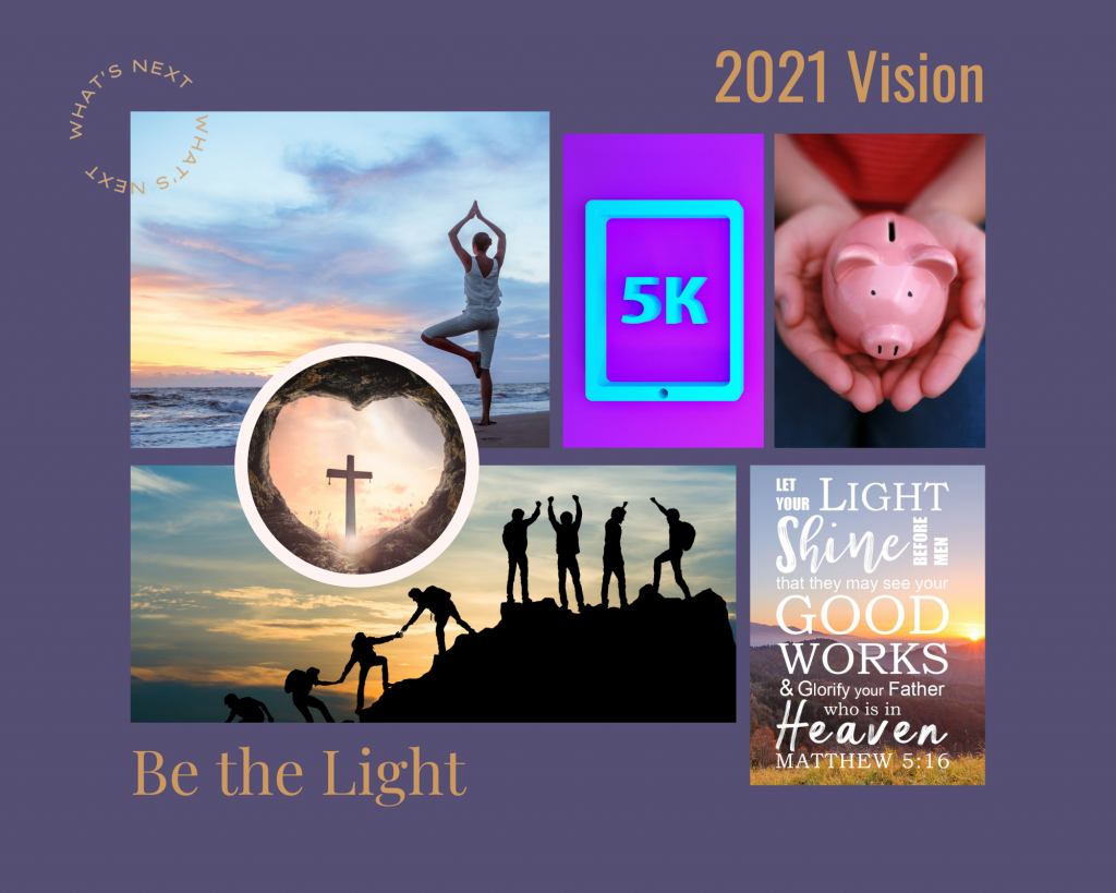 Vision Board to reach goals in 2021 with Marketing Ally